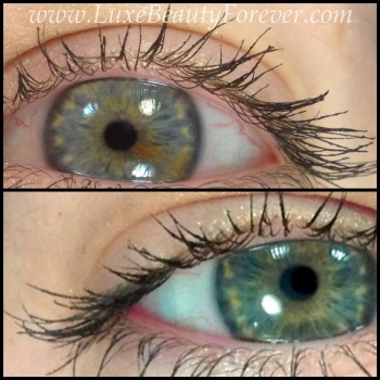 Top: Lancôme 'Cils Booster XL' + 'Définicils' | Bottom: Lancôme 'Cils Booster XL' + 'Hypnôse Doll Lashes'
