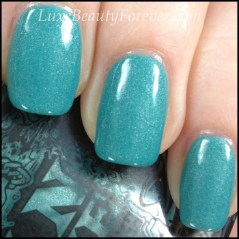 ManGlaze 'ILF' with CND Air Dry topcoat