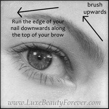 How to groom the brow once it's been plucked and lightly filled in with a pencil that matches your brow hair color.