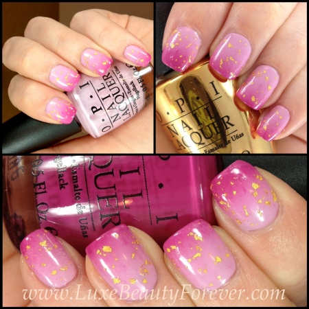 OPI 'Man With The Golden Gun', OPI 'Panda-Monium Pink', OPI 'Dim Sum Plum'