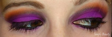 Eye makeup look 'Poisonous Flames'