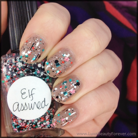 butter London 'All Hail The Queen' + Lynnderella 'Elf Assured'