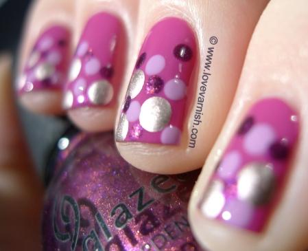 OPI Dim Sum Plum 2l + OPI Lucky Lavender + China Glaze Stella + Miss Sporty 203 2