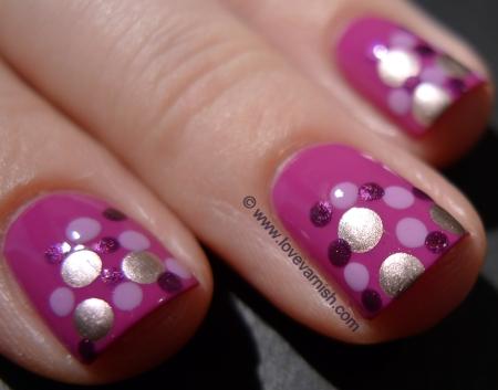 OPI Dim Sum Plum 2l + OPI Lucky Lavender + China Glaze Stella + Miss Sporty 203