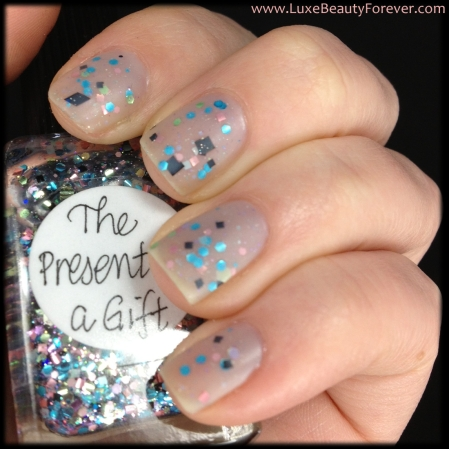 OPI 'My Pointe Exactly' & Lynnderella 'The Present is a Gift'