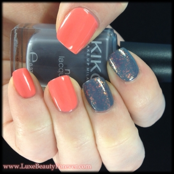Gray and Coral + Flakie Contrast