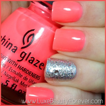 China Glaze 'Shell-O' and OPI 'Crown Me Already'