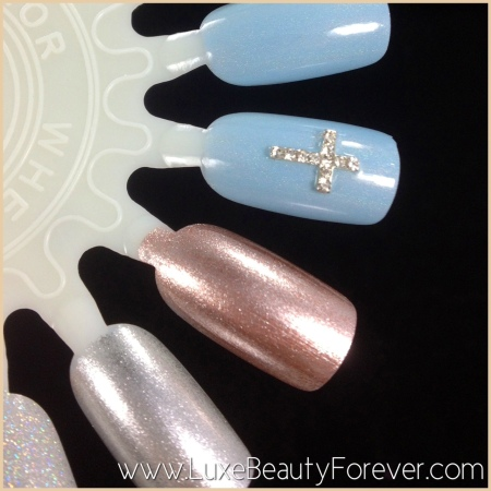 Featuring: Crystal Cross Nail Charm from 'Daily Charme'