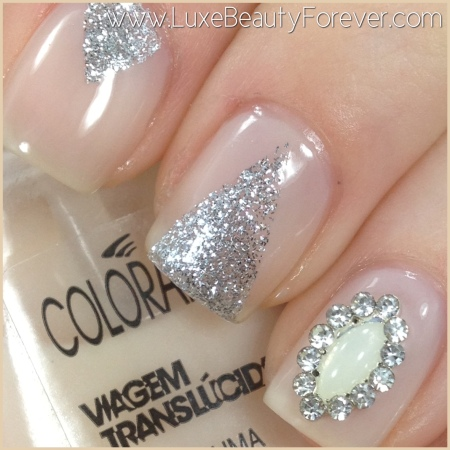 Colorama 'Espuma' + Illamasqua 'Harsh' + Nail Charm from 'Daily Charme'