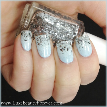 Essie 'Borrowed and Blue' + Cult Nails 'Tempest' + China Glaze 'Fairy Dust' + Essie 'Set in Stones'
