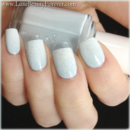 Essie 'Borrowed and Blue' + Cult Nails 'Tempest' + China Glaze 'Fairy Dust'