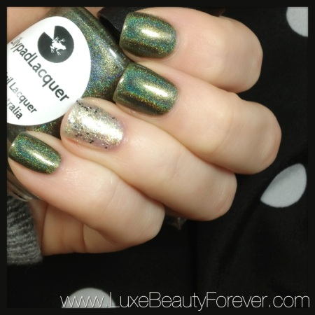 Lilypad Lacquer 'Wild at Heart' & Essie 'Hors D'oeuvres'